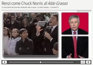Aldo Grasso: Matteo Renzi come Chuck Norris (video)