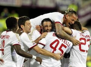 """Fiorentina Milan 0-2. La rivincita di Balotelli: """"Siamo sempre stati uniti"""""""