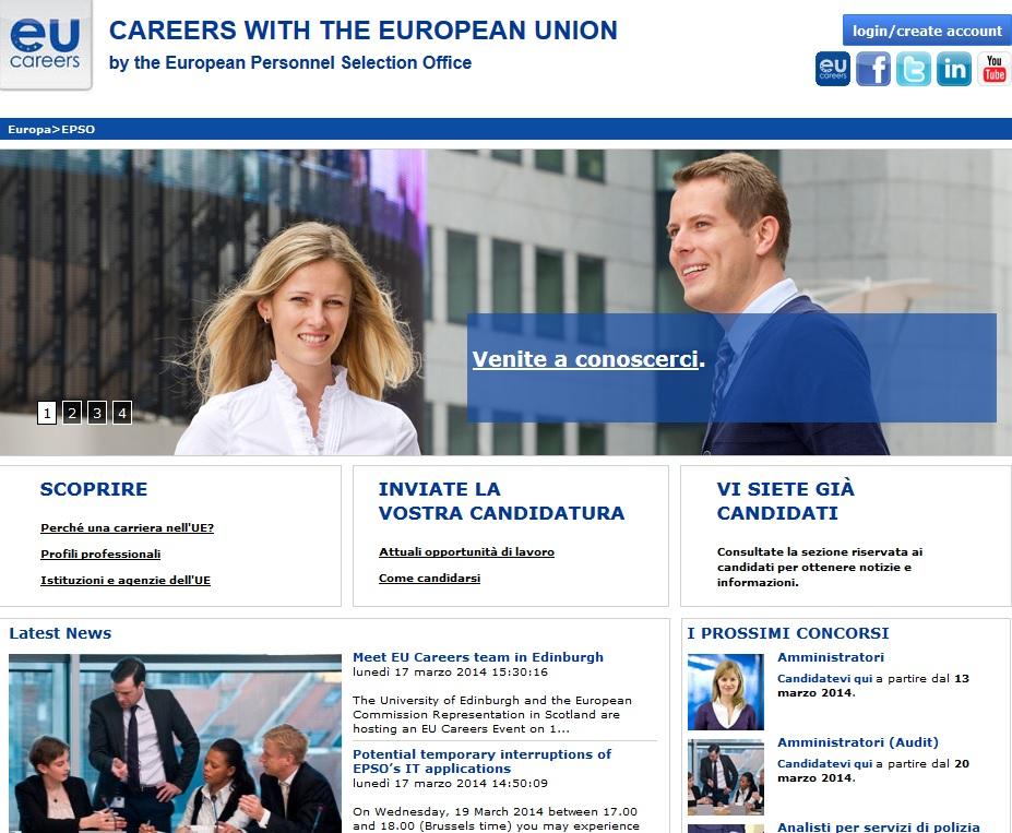 Ue offre lavoro a giovani laureati: 3 bandi per 227 posti, scadenze marzo-aprile