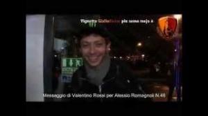 Valentino Rossi, video messaggio per Alessio Romagnoli