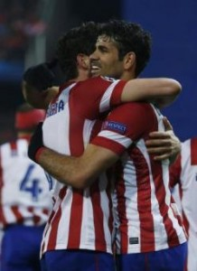 Video gol e pagelle, Atletico Madrid-Milan 4-1: Kakà non basta, Diego Costa top (LaPresse)