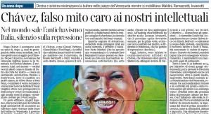 Hugo Chávez, falso mito. Luca Mastrantonio, Corriere della Sera
