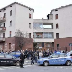 Il palazzo dove è avvenuto il delitto (Foto Ansa)