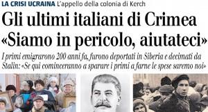 Gli ultimi italiani di Crimea. Fausto BIloslavo, il GIornale