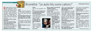 """Renato Brunetta: """"Le auto blu sono catorci"""""""