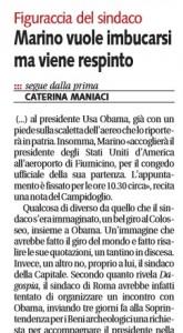 Obama al Colosseo, Marino vuole imbucarsi ma viene respinto. Maniaci su Libero