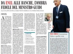 """""""Enel e banche, l'ombra del ministro Guidi"""", Feltri e Pacelli sul Fatto Quotidiano"""