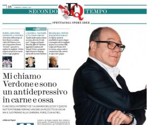 """Carlo Verdone: """"Sono un antidepressivo in carne e ossa"""""""