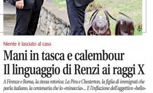 Mani in tasca e calembour. Il linguaggio di Renzi, Libero