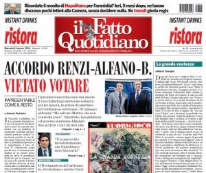 """""""Impresentabile come il resto"""", Antonio Padellaro sul Fatto Quotidiano"""