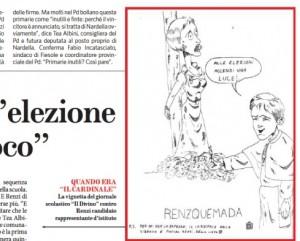 La vignetta pubblicata dal Fatto Quotidiano