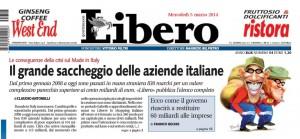 Il grande saccheggio delle aziende italiane, Claudio Antonelli su Libero