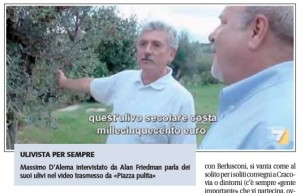 D'Alema ha d'oro pure gli alberi, Mario Giordano su Libero
