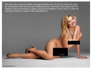 La modella over size Katya Zharkova