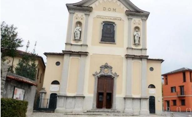 La chiesa vicino alla quale sono stati trovati i reperti