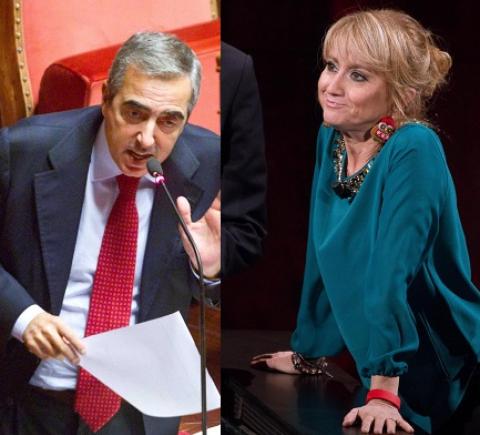 """Luciana Litizzetto e Maurizio Gasparri: """"Miserabile"""" insulto meno feroce"""