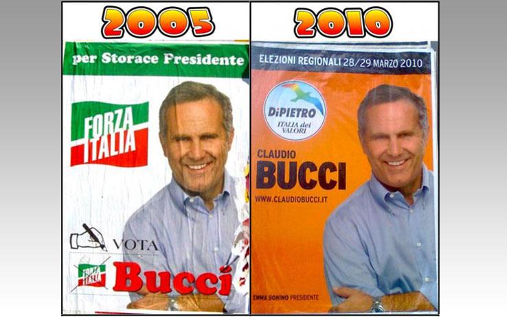 I manifesti di Claudio Bucci a confronto