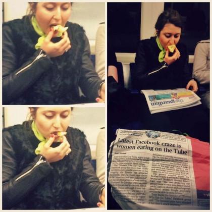 """Foto di donne che mangiano in metro. Scatta la protesta: """"E' sessista"""""""