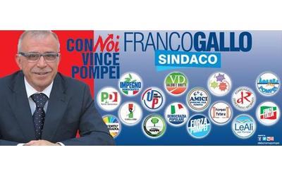 Pompei, Franco Gallo candidato sindaco...di Pd e Forza Italia alleate