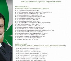 Lega Nord, liste europee: i nomi di tutti i candidati nelle 5 circoscrizioni