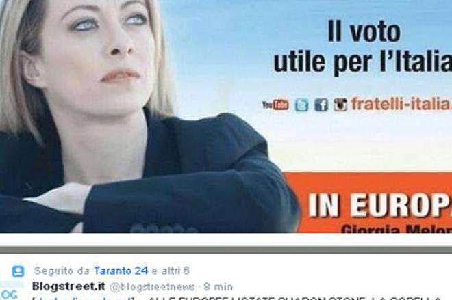 Giorgia Meloni ritoccata con Photoshop