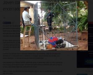 Paraguay: 18enne disabile detenuto in una gabbia di ferro