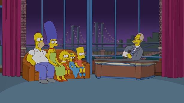Simpson Sul Divano : I simpson sul divano del david letterman show quot ci