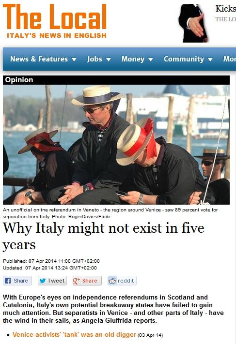 L'Italia fra 5 anni potrebbe non esistere più: se lo dicono gli svedesi…
