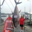 Donna pesca un tonno da 400 chili e lotta 4 ore per tirarlo su