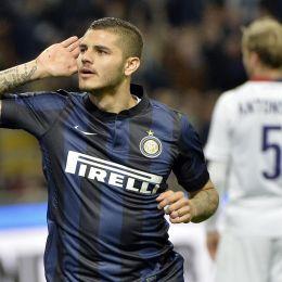 Inter-Bologna, Icardi esulta dopo il gol (Ansa)