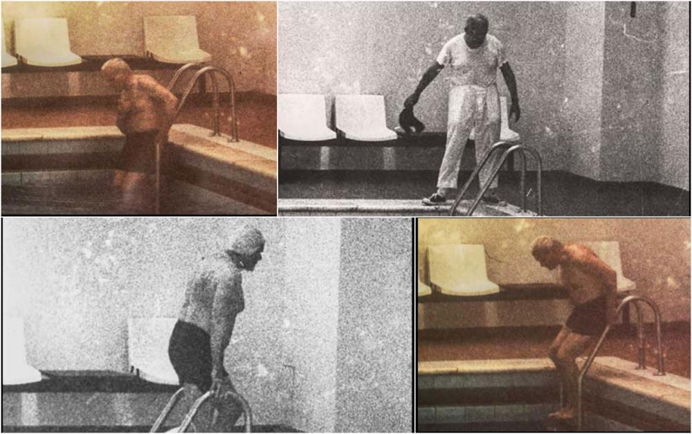 Papa wojtyla nella piscina della residenza di castel for Piani del padiglione della piscina