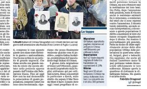 Le tappe della migrazione in Crimea, dall'articolo del Corriere della Sera