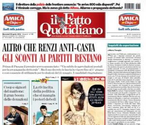 """Marco Travaglio sul Fatto Quotidiano: """"Inquisiti da esportazione"""""""