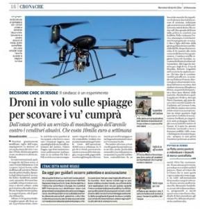 Droni per scovare i vu' cumprà in spiaggia, Iacobini sul Giornale