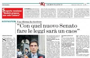 """Gianluigi Pellegrino (giurista): """"Con quel nuovo Senato fare le leggi sarà un caos"""""""
