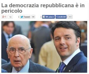 """Blog Beppe Grillo: """"La democrazia repubblicana in pericolo. Speriamo in Scilipoti"""""""