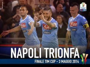 Il Napoli ha vinto la Coppa Italia 2014 (foto LaPresse)