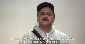 """""""Insieme alla Spagna e alla Grecia l'Italia è il paese più povero in Europa..."""""""