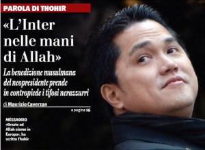 """Thohir spiazza i suoi tifosi: """"L'Inter vince grazie ad Allah"""""""