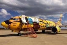 Mondiali Brasile 2014. Un aereo-graffito accompagnerà la Selecao (video)