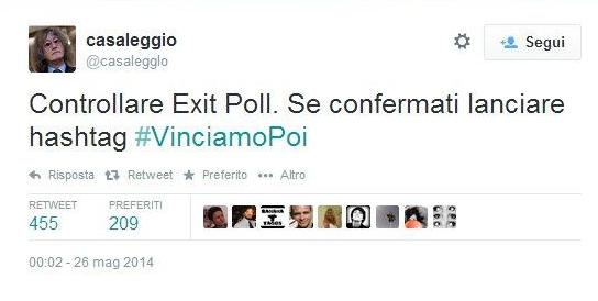 Europee, #vinciamopoi: su twitter sfottò a Beppe Grillo e M5s