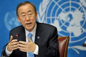 Il segretario Ban Ki-moon