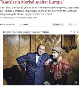 """Berlusconi, intervista alla Welt: """"Sui lager mi scuso se c'è chi si è offeso"""""""