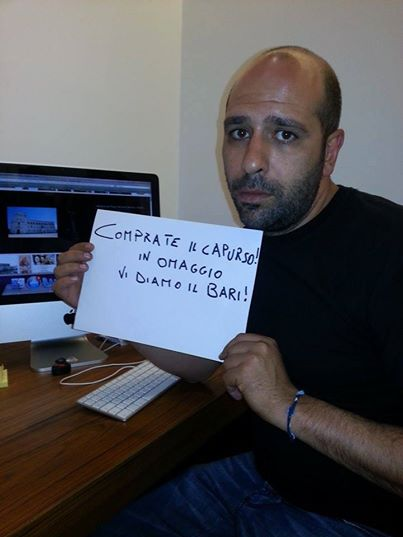"""Checco Zalone su Facebook: """"Comprate il Capurso! Il Bari in omaggio"""" (foto)"""