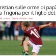 Cristian Totti, provino a Trigoria