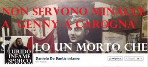 """""""Daniele De Santis infame"""": su Facebook minacce di morte all'ultras Roma"""