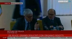 Arturo De Felice, gaffe del direttore della Dia