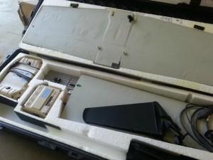 Il pacco contenente parti del drone