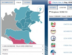 Europee, preferenze Veneto: candidati e liste. Moretti 138mila voti. Tosi 83mila