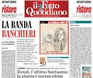 """Marco Travaglio sul Fatto Quotidiano: """"Slurp"""""""